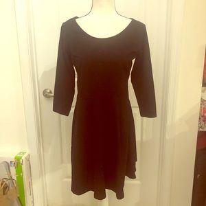 NWT H&M Cotton Black A-line Dress